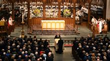 Past presidents, family and friends bid farewell to Barbara Bush