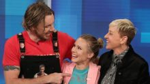 Kristen Bell Brings Dax Shepard To Tears For Birthday Surprise (And Scare) On 'Ellen'