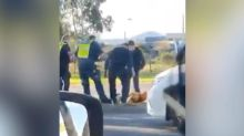 Victoria police officer appears to stomp on man's head during arrest