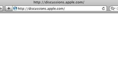 Apple's discussions site redirected for some