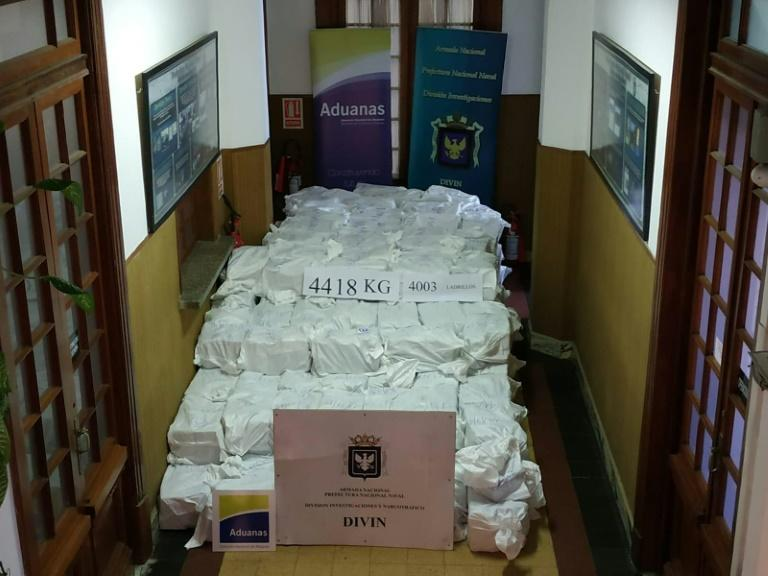 Massive Amount of Cocaine Worth $1 Bln Seized in Uruguay's Capital