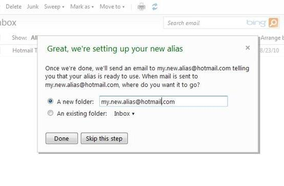 Hotmail announces disposable e-mail addresses, those with disposable personas rejoice