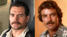 Henry Cavill vs. Tom Selleck: Who wore the mustache better?