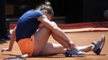 Halep says ankle injury is much better