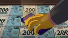 """Os Simpsons """"previram"""" a nota de R$ 200 em episódio no Brasil"""