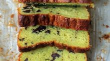 Cake of the Day: Avocado Ricotta Olive Oil Cake with Dark Chocolate Chunks