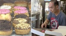 Customers buy up all doughnuts at shop so owner can look after ill wife