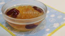 桃膠、雪蓮子、紅棗、蘋果糖水