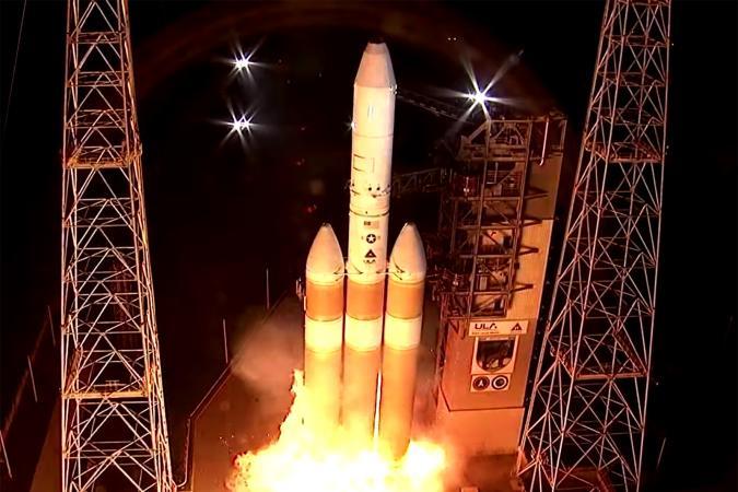 United Launch Alliance Delta IV rocket during NROL-44 mission abort