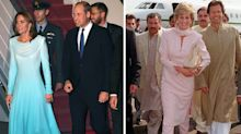 Duchess of Cambridge follows Princess Diana's sartorial lead for Pakistan arrival outfit