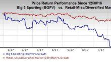 Big 5 Sporting (BGFV) Falls on Q2 Earnings & Sales Miss (Revised)