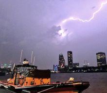 Massive Lightning Storm Disrupts Travel at London Airport