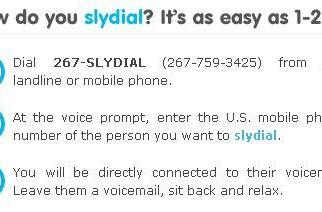 Slydial sends your call straight to voicemail, makes apologizing too easy