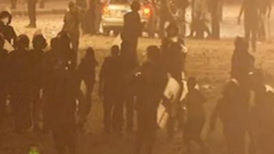 Raw Video: Protests continue across Egypt