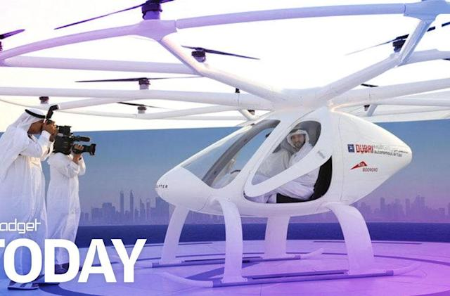 Dubai tests a passenger drone for its flying taxi service