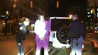 Raw: NHL hopeful, dressed as Teletubby, arrested