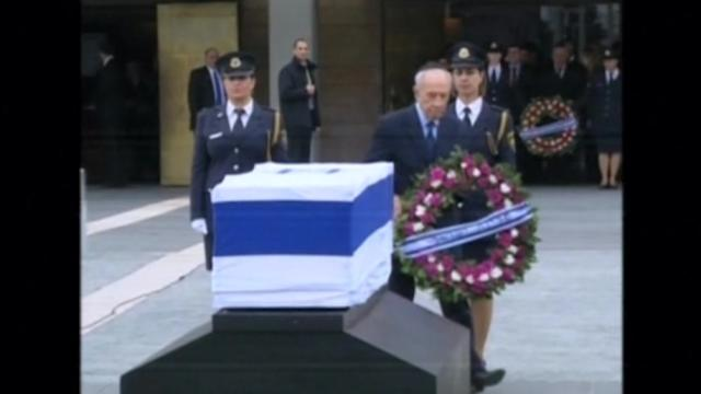 Sharon's body lies in state in preparation for state funeral
