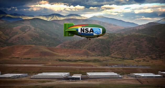 Making-of-Video: Zeppelin-Protest über dem Utah Data Center der NSA