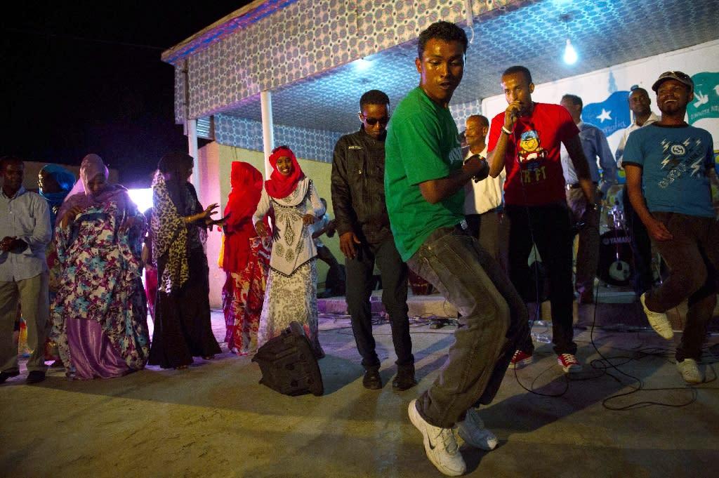Somali band Waahaya Cusub perform at the International Solidarity Concert as part of the Mogadishu Music Festival, in 2013 (AFP Photo/PHIL MOORE)