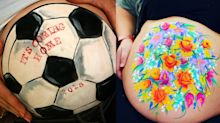 Meet the artist who has painted over 350 baby bumps