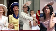 Best photos of the Royal Family at Trooping the Colour through the years