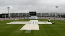 James Anderson's bid for 600th Test wicket frustrated by rain