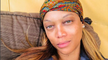 Tyra Banks's makeup-free glamping selfie is super-stunning