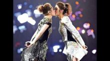Twins celebrate 16th year in music with a kiss
