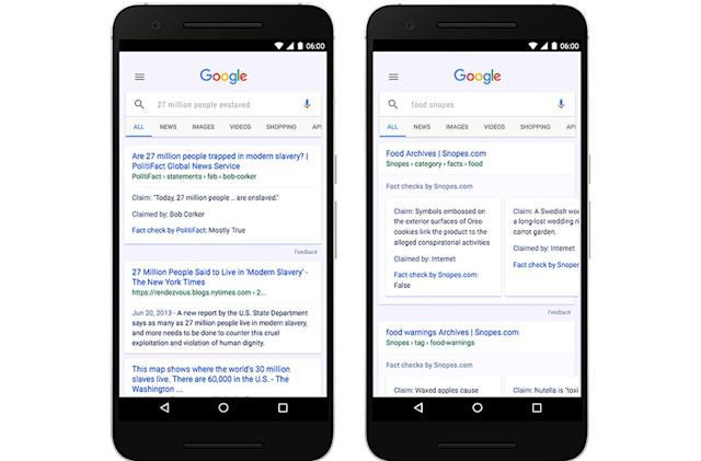 Google will flag fake news stories in search results