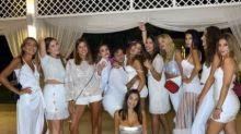 L'addio al nubilato di Elettra Lamborghini: dress code bianco e argento