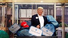 Berlin Madame Tussaud's puts its Donald Trump in a dumpster