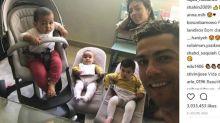 Los niños de Cristiano Ronaldo crecen a pasos agigantados