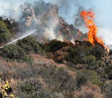 Hillside brush fire in Los Angeles threatens affluent Pacific Palisades homes; evacuations lifted