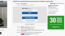 Verrückte Dinge, absurde Preise: Diese schrägen Angebote zu Karl Lagerfeld gibt es auf Ebay