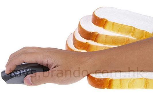 White bread wrist rest is non-organic yet ergonomic
