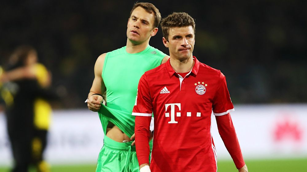 Muller, Neuer ruled out of Bayern's clash with Borussia Dortmund