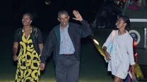 Raw: Obama Returns to White House From Vacation