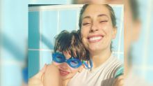 Stacey Solomon cuddles up to son Leighton after revealing he 'misses being picked up' during pregnancy