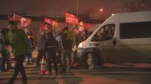 Van attempting to cross picket line creates tension at Co-op refinery