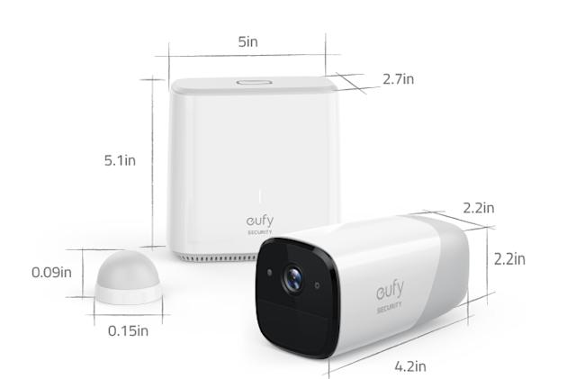 The EverCam promises a year of home security on a single charge