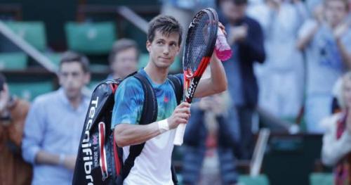 Tennis - ATP - Budapest - Budapest : Aljaz Bedene attend Lucas Pouille