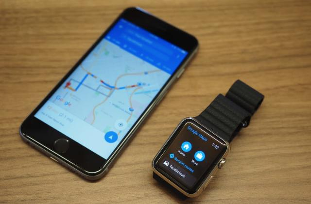 Google Maps now works on the Apple Watch
