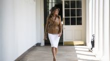 Melania Trump dismisses conspiracy theories, says she's 'feeling great'