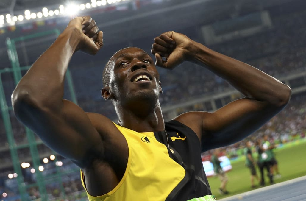 Jamaica's Usain Bolt wins Olympic 100m gold