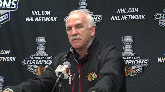 RAW: Blackhawks coach `very happy and very proud`