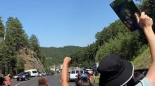 Protesters Gather in Keystone Ahead of President Trump's Mount Rushmore Visit