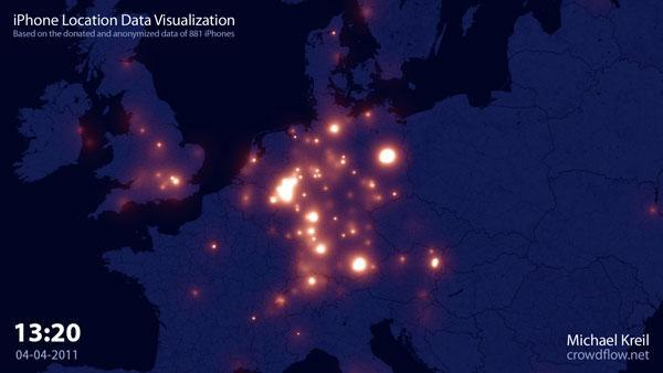 Crowdflow tracks 880 iPhones across Europe, wants to put you on the map