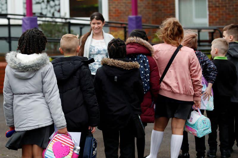 FILE PHOTO: British schools reopen amid the coronavirus disease (COVID-19) outbreak