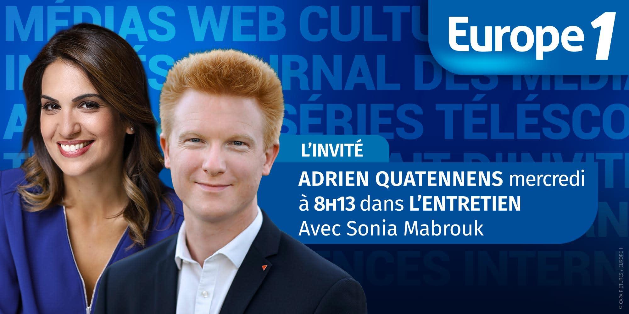 Le député LFI Adrien Quatennens est l'invité de Sonia Mabrouk mercredi à 8h13