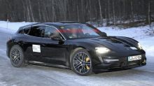 Porsche Taycan Cross Turismo sheds most of its camouflage in new spy photos